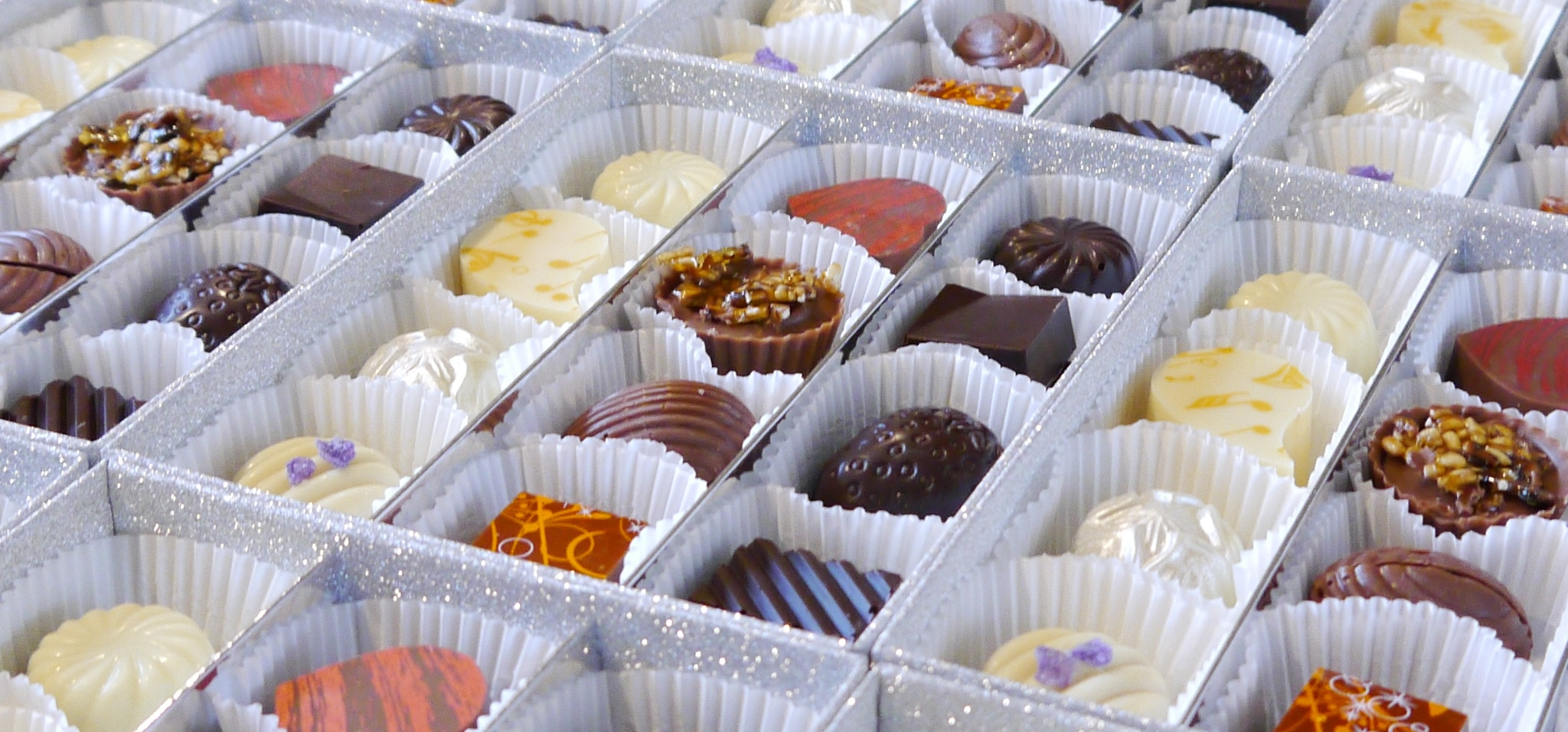 Beautiful artisan hand crafted wedding chocolates